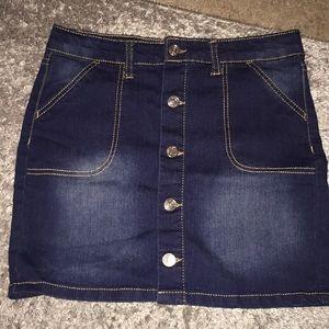 Dark wash jean shirt